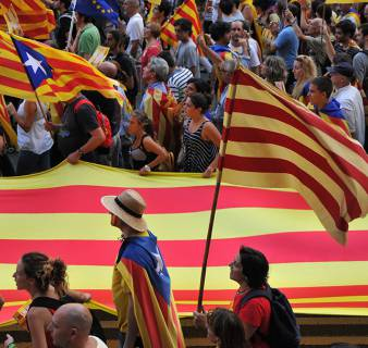 Demonstration during Catalonia's National Day