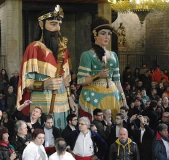 Gegants at the Saint Eulalia Festival