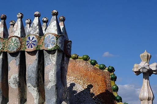 Détail du toit de la Casa Batlló, à Barcelone