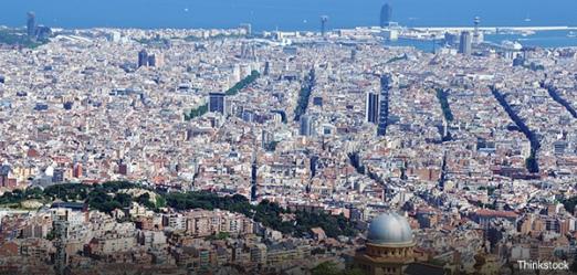 Emplacement de la ville de Barcelone sur la carte
