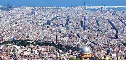 Situación de la ciudad de Barcelona en el mapa
