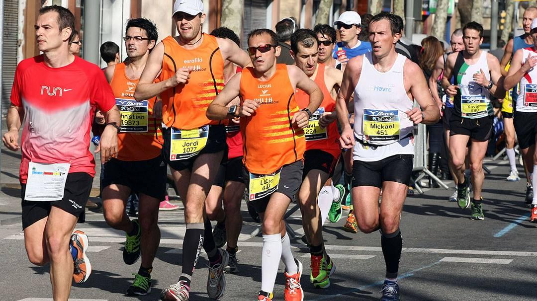par ticipants au Semi-marathon de Barcelone