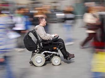 Usager de fauteuils roulants