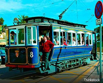Barcelona's Blue Tram