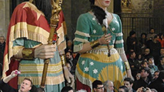 Gigantes en las fiestas de Santa Eulàlia