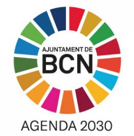 Cartell amb el text: Ajuntament de Barcelona. Agenda 2030