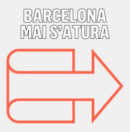 Cartell amb el text Barcelona mai s'atura
