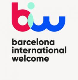 Cartell de campanya amb el text: Barcelona International Welcome
