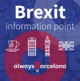 Cartell de campanya amb el text: Brexit information point. Always Barcelona