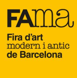 Cartell amb el text: FAMA. Fira d'art modern i antic de Barcelona