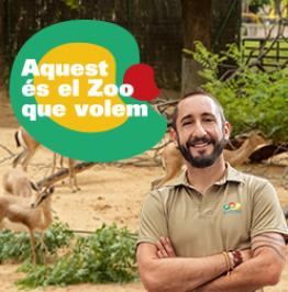 Cartell de campanya amb el text: Aquest és el Zoo que volem