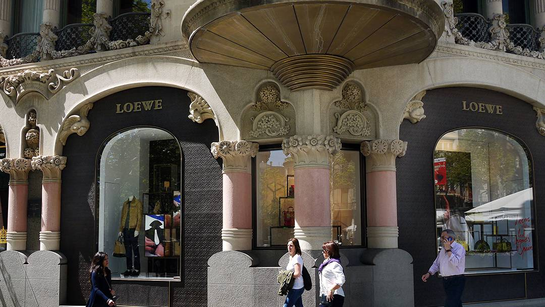 Loewe's flagship store on Passeig de Gràcia