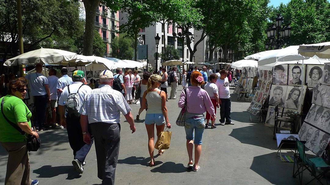 View of a section of the Rambla