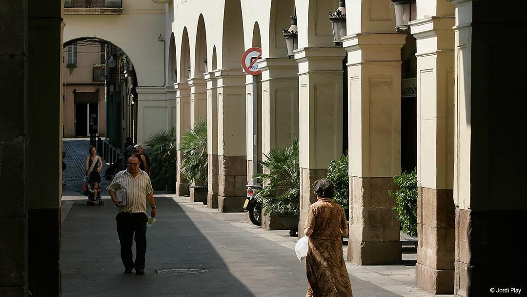 Vista de una calle de Sant Andreu