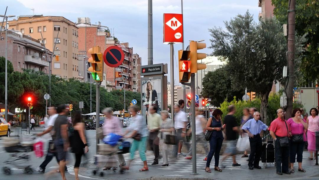 La rue de Sants