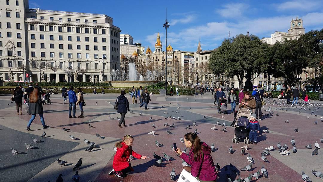 La plaza de Catalunya