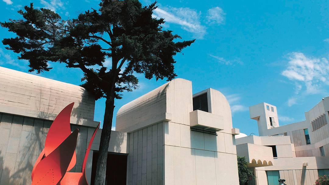 El edificio de la Fundación Joan Miró