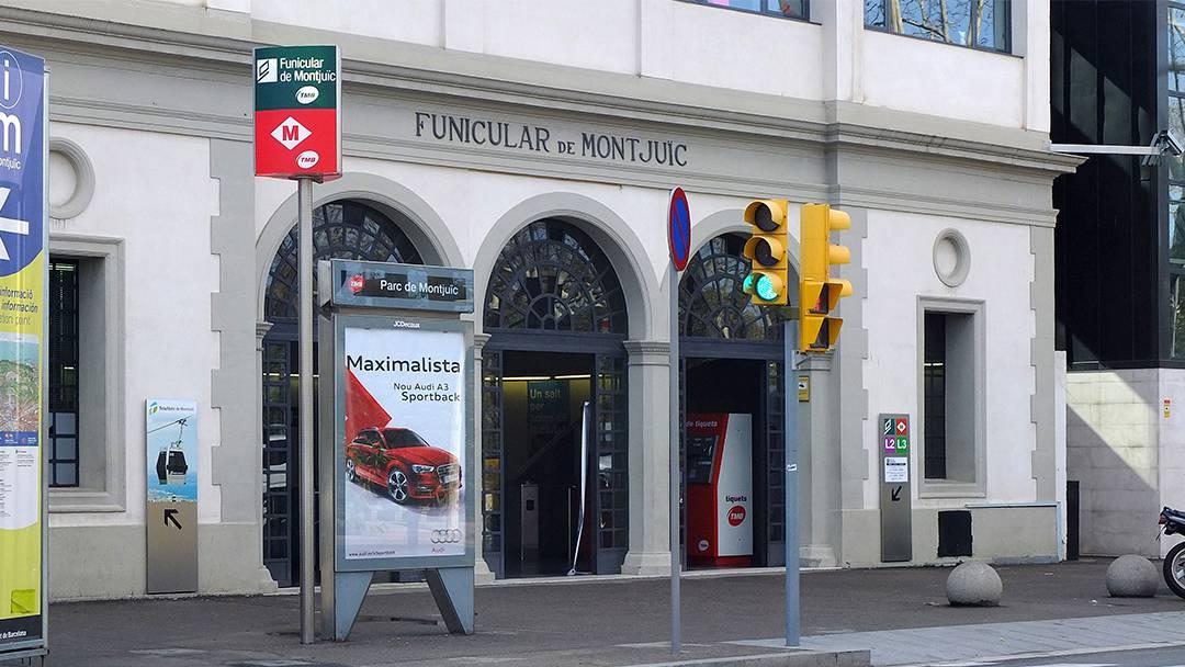 Montjuïc funicular railway station
