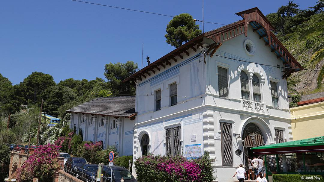 Tibidabo's funicular station