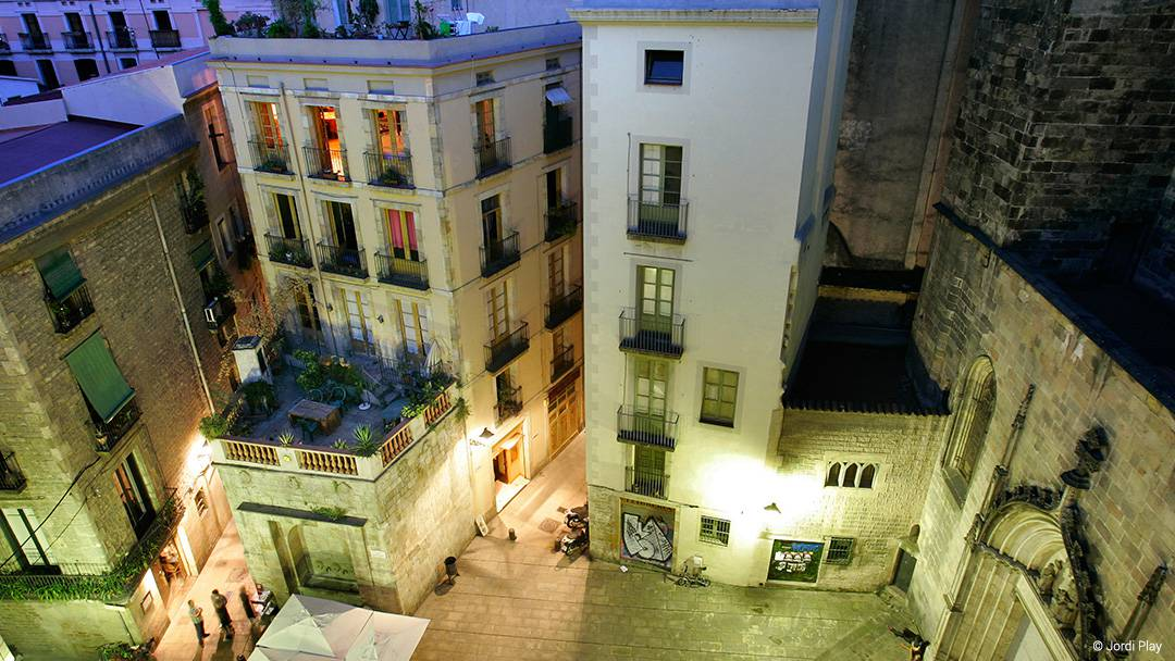 La plaça de Sant Just del barri Gòtic