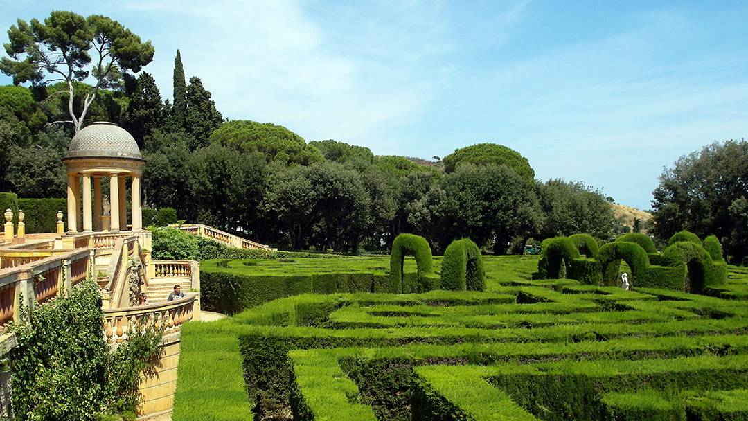 View of the Parc del Laberint d'Horta