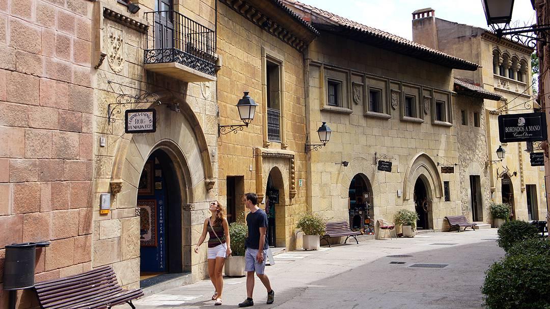 Un carrer al Poble Espanyol