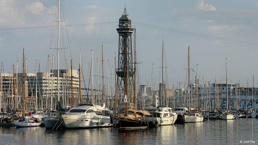 Vue du Port Vell de Barcelone