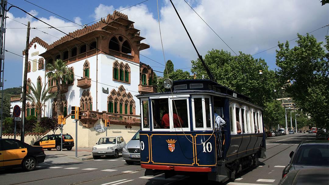Vagón del Tranvía Blau