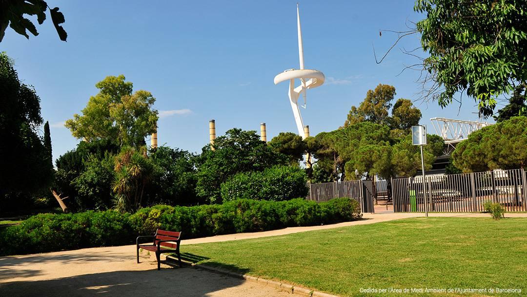 Vista dels jardins d'Aclimatació