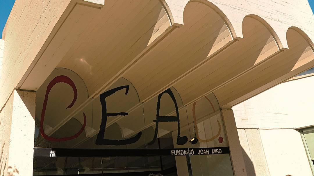 Entrada de la Fundación Joan Miró