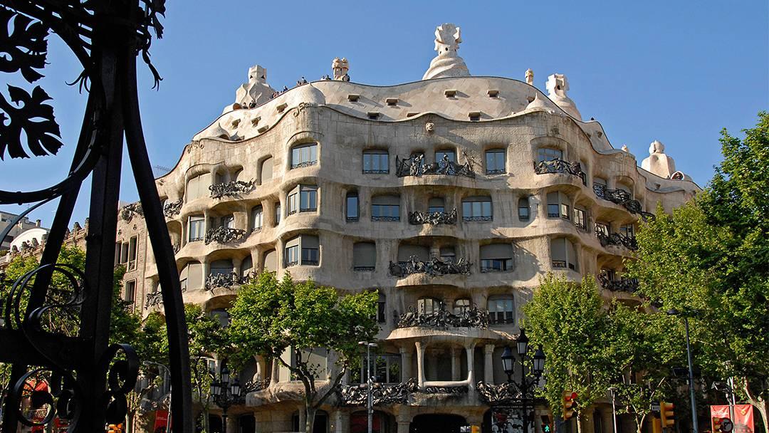 La fachada de La Pedrera