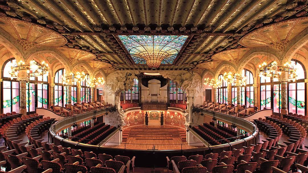 L'interior del Palau de la Música