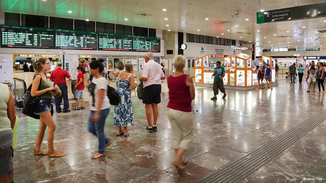 Inside Sants Station