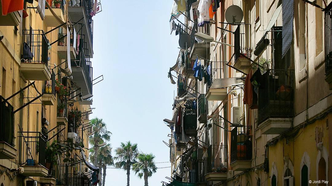 Un carrer del barri de la Barceloneta