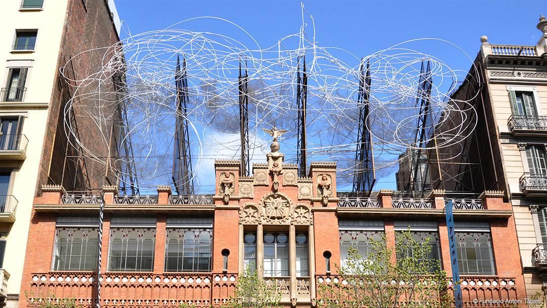 Facade of the Fundació Antoni Tàpies