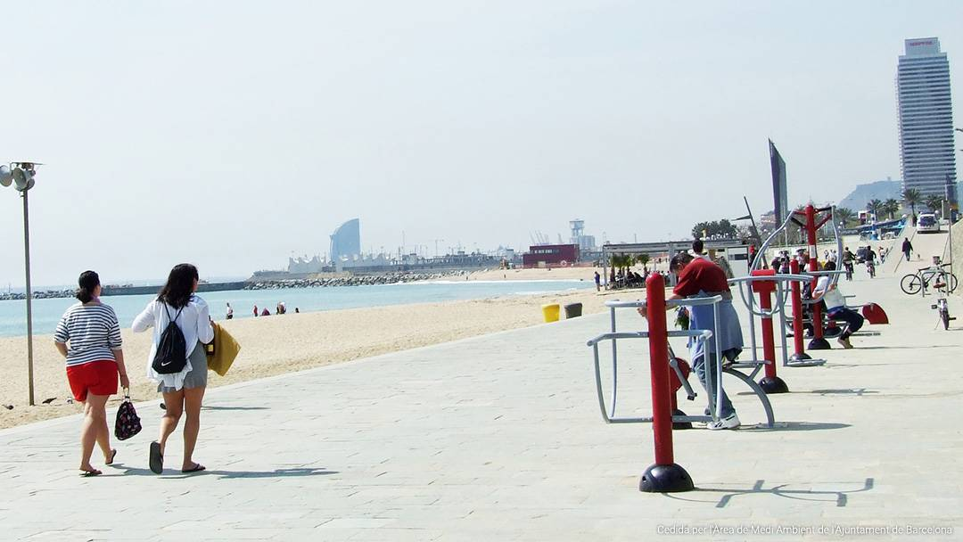 La playa del Bogatell