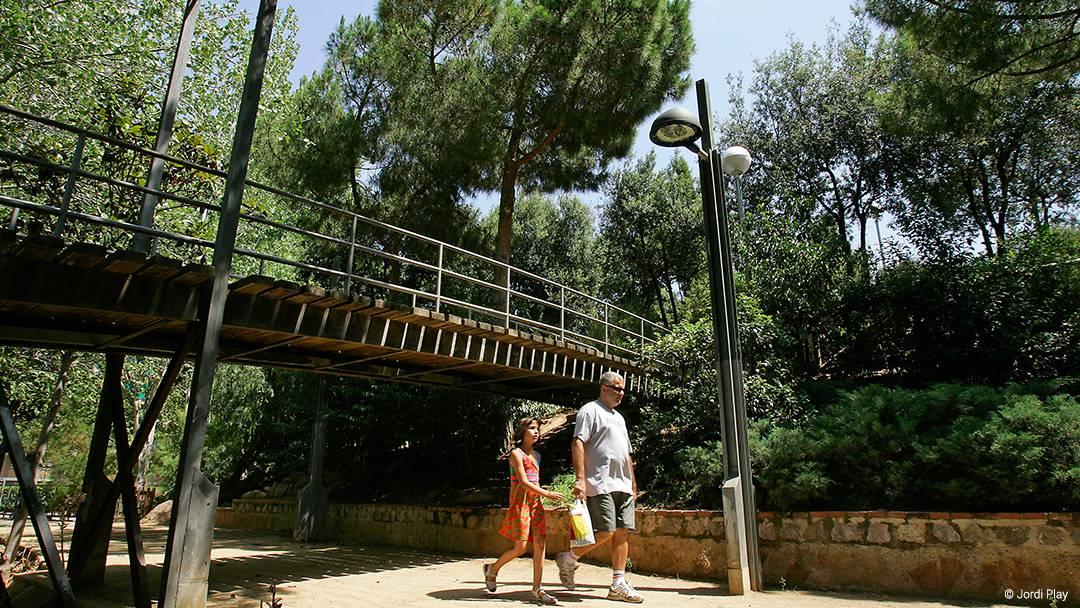 Vue d'un parc de la Sagrera