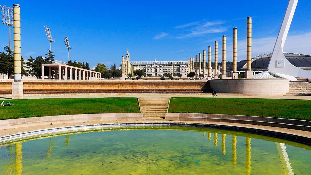Vista de la Anilla Olímpica de Barcelona