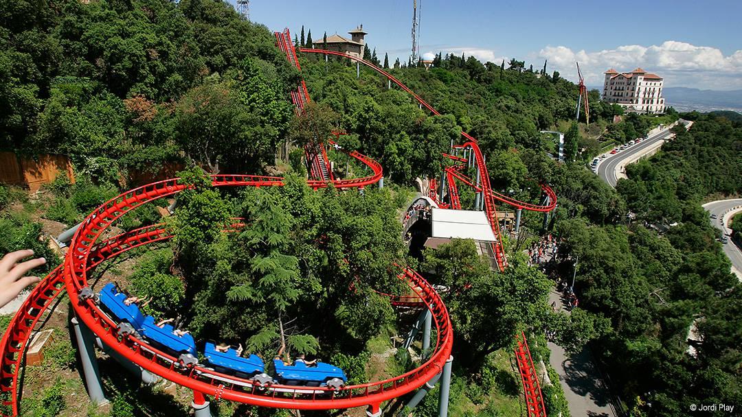 El parc d'atraccions del Tibidabo