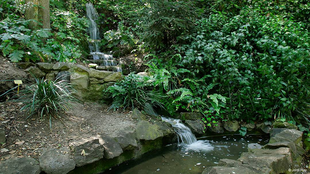 Waterfall in Parc de Montjuïc