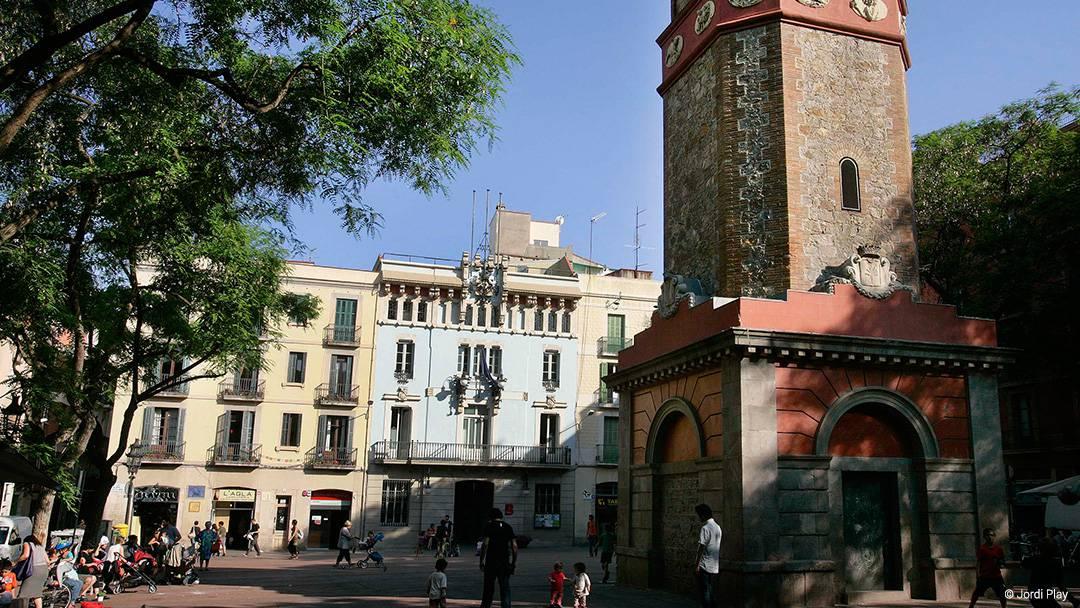 Vista de la plaça de la Vila de Gràcia