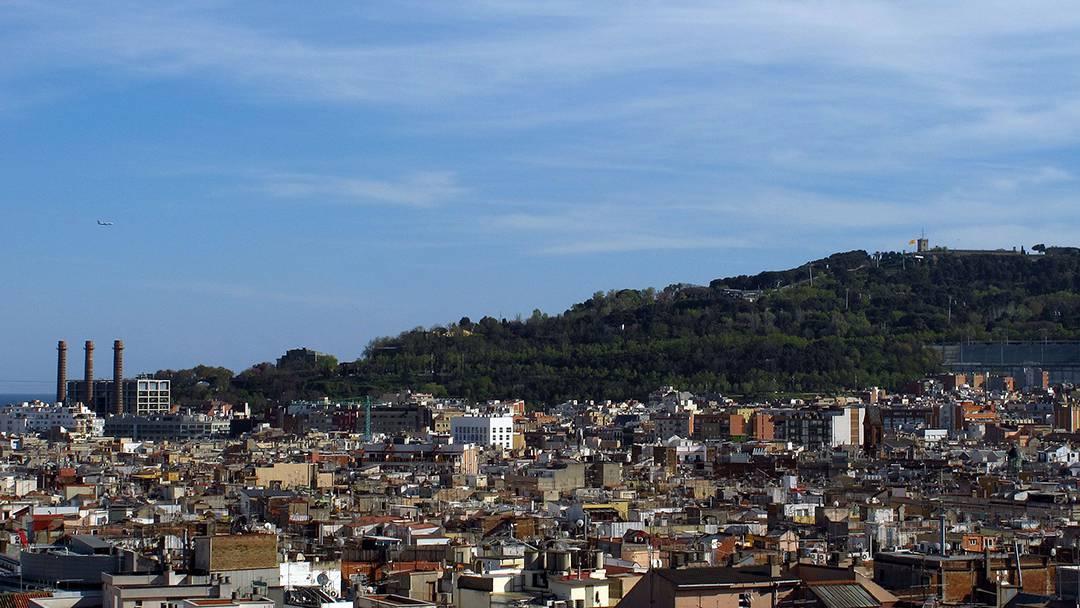 Vista del Poble-sec y Montjuïc