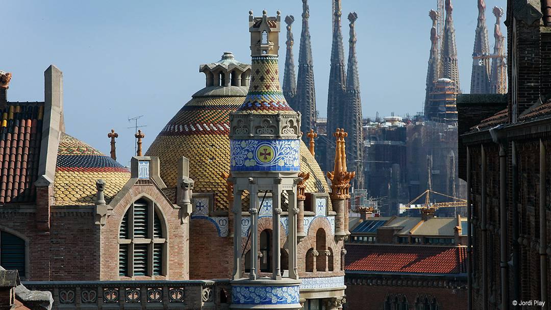 View of Sant Pau Modernista Complex