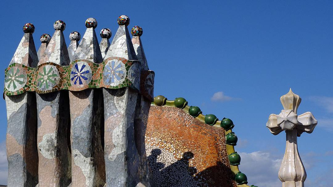 Détails de la façade de la Casa Batlló