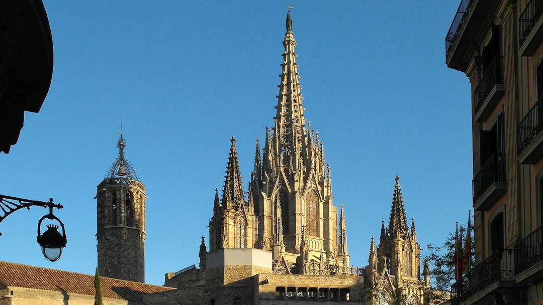 Vue générale de la Cathédrale de Barcelone
