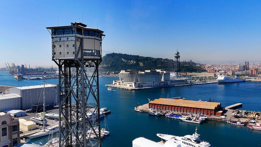 Vista del Port Vell de Barcelona