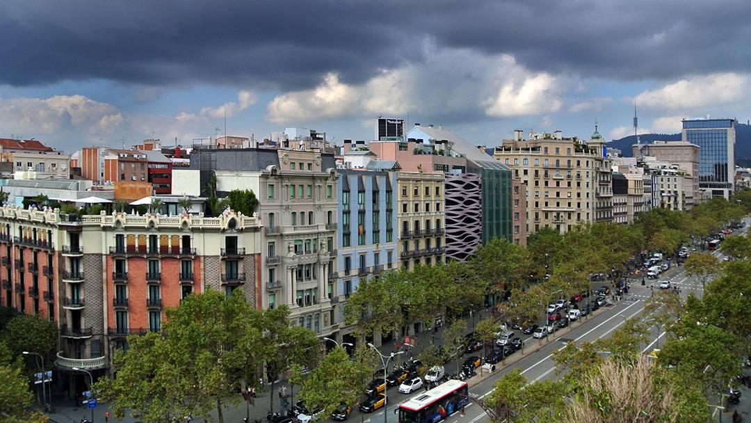 Vista aèria del passeig de Gràcia