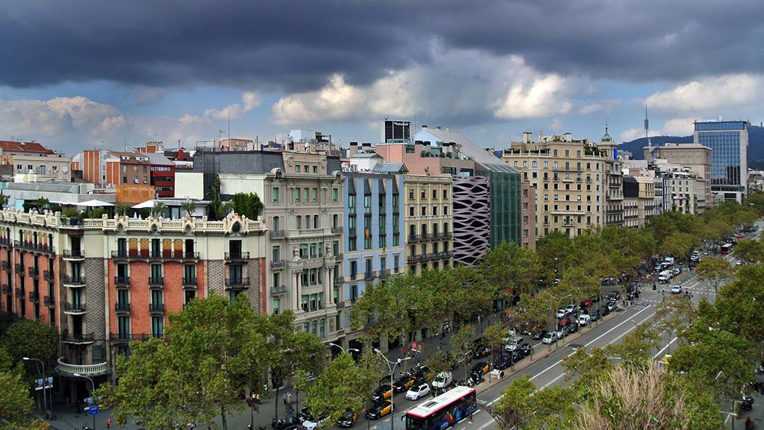 Aerial view of Passeig de Gràcia