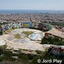 Vista de Barcelona desde la batería antiaérea del Guinardó