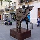 La Colometa, a monument that stands in Plaça del Diamant
